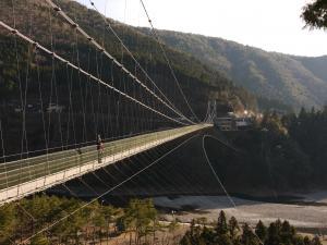 十津川村谷瀬の吊り橋