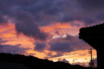 網野町の夕陽