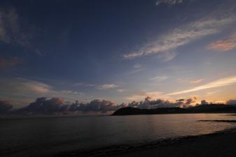 網野町八丁浜からの朝焼け