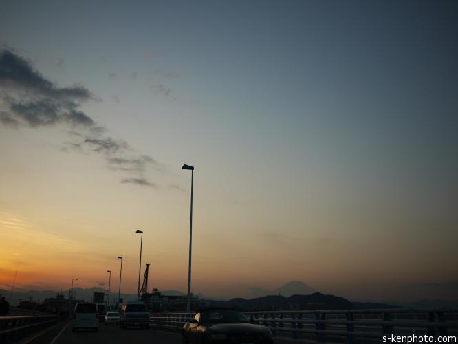 小田原城夕景