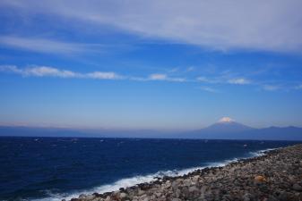 戸田から望む富士山