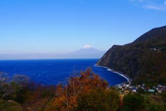 井田から望む富士山