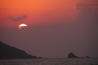 龍郷町の夕陽